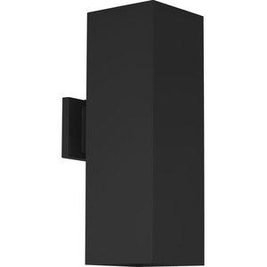 "6"" LED Square Cylinder Up/Down Wall Lantern, Black"