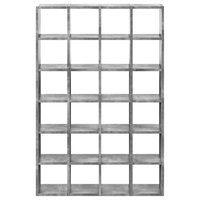 Modern Modular Large Bookcase & Display Shelves, Faux Concrete