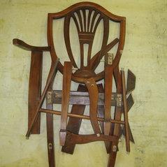 Repair Of Mahogany Arm Chair. 2 Photos. Furniture