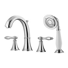 Julius Roman Tub Faucet with Hand-Held Shower