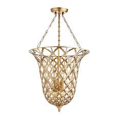 Quatrefoil pendant lighting houzz cyan design guinevere quatrefoil aged brass pendant lighting fixture pendant lighting aloadofball Choice Image