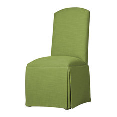 Hadley Skirted Parsons Chair, Lime