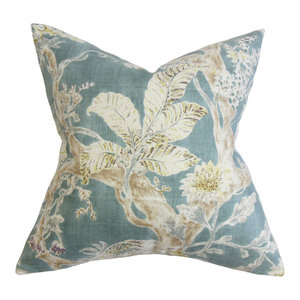 The Pillow Collection Nyssa Floral Bedding Sham Blue Standard//20 x 26,