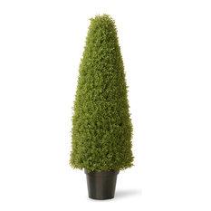 "48"" Boxwood Tree With Green Pot"