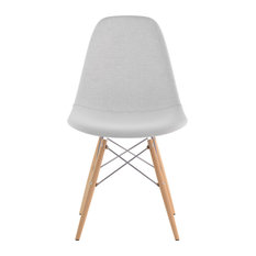 Mid Century Dowel Side Chair Glacier White