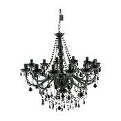 Opulent Black Chandelier
