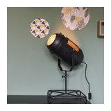 Vintage Film Spotlight Table Lamp Antique Black 60cm - Blake