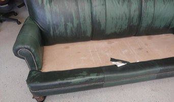Before - Leather Sofa