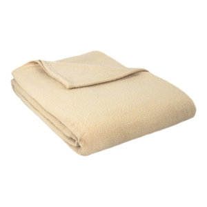 Alta Luxury Hotel Fleece Blanket, Tan, Full