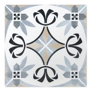 "Anabella 9""x9"" Porcelain Field Tile, Royale"