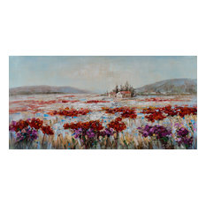"""A Flower Field in Italy II"" Hand Painted Canvas Artwork; Fine Art; Modern"