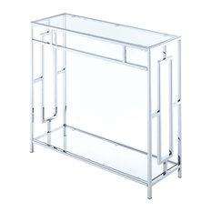 Town Square Chrome Hall Table
