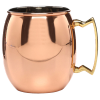 Moscow Mule Mug with Brass Handles