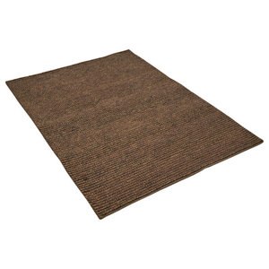 Jute Loop Brown Rectangular Rug, 160x230 cm