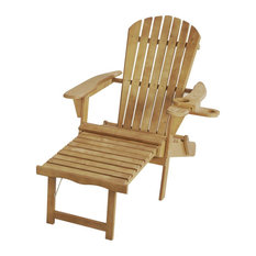 Oceanic Adirondack Chaise Foldable Chair, Natural, 1 Chair