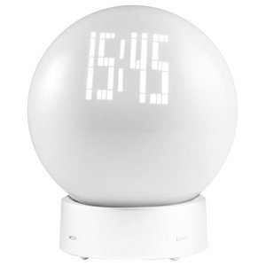 Addex Globe Alarm Clock Moodlight