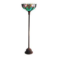 CHLOE Lighting, Inc.   Chloe Lighting Liaison Stained Glass 1 Light  Victorian Torchiere