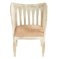 Cyan Lighting Chelsea - 33.5-inch Chair Whitewashed Finish