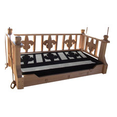 New Orleans Twin Swingbed, Painted Clay Pot, Twin, Cypress Wood, Frame Only