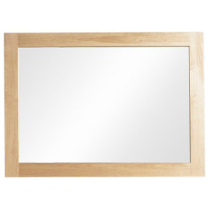 112 x 81 x 3 Cm Mobel Contemporary Oak Wall Mirror