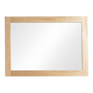 112 x 81 x 3 Cm Mobel Contemporary Oak Wall Mirror