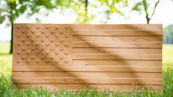 American Flag Carved