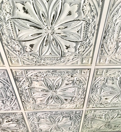 What Wallpaper With Faux Tin Ceiling