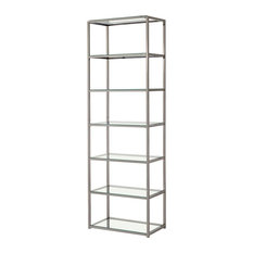 Coaster Contemporary Metal Bookcase With Glass Shelves