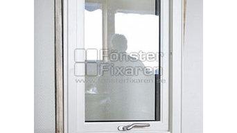 Aluminium beklätt vridfönster med fast fönster