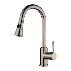 Single Handle Pull-Down Stainless Steel Brushed Nickel Kitchen Faucet N96466-BN