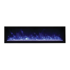 "Amantii - Panorama Indoor/Outdoor Extra Slim Built In Electric Fireplace, 60"" - Outdoor Fireplaces"