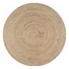 nuLOOM - Nuloom Hand Woven Rigo Jute Rug, Natural, 6'x6' Round - Area Rugs