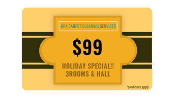 Holiday Special Offer!! 3 ROOMS & HALL @ $99