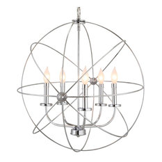 Revel Orbits Ii Large 24 5 Light Modern Sphere Orb Chandelier