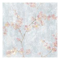 Chapman Blue Cherry Blossom Trail Wallpaper Bolt