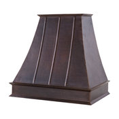 "38"" 735 CFM Hand Hammered Copper Wall Mounted Euro Range Hood"