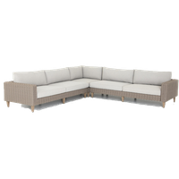 Regina Outdoor 3-Piece Sectional, Stone Grey