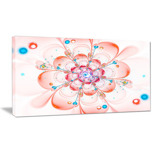 Beautiful Fractal Pink Whirlpool Floral Canvas Art Print Contemporary Prints And Posters By Design Art Usa