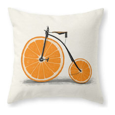 """Vitamin Throw Pillow Cover, 18""""x18"""" With Pillow Insert"""
