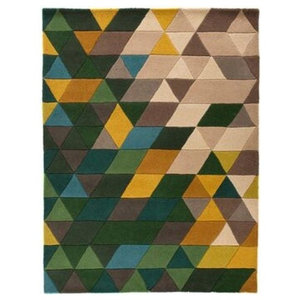 Illusion Prism Rug, Green and Multi, 120x170 cm