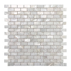 Mother of Pearl Shell Mosaic Tile, Set of 10, A19