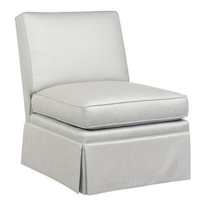 Novi Tight Back Slipper Chair Gray  Duralee Furniture