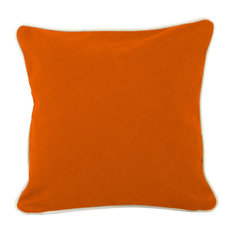 "16""x16"" Pillow With Green Eco Friendly Insert, Orange"
