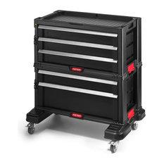 5-Drawer Modular Tool Organizer and Storage System, Black