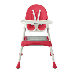 DOM Family   Dream On Me Jackson Highchair, Rasberry   High Chairs And  Booster Seats