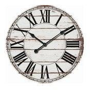 White And Black Wood Wall Clock