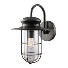 Portside 1-Light Large Outdoor Sconce, Matte Black