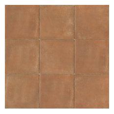 """Cotto Nature 14""""x14"""" Matte Porcelain Field Tile, Siena"""