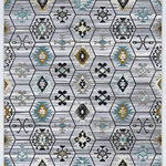 """Linon Home D�cor Products - Parcel Quatro Rug, Gray, 5'x7'6"""" - The Parcel Collection offers a distressed vintage twist on classic designs.  These rugs features shrink yarns in the pile to give the appearance of height to a flat pile.  The distressed nature of the designs allows the normally traditional looks to take on more of a transitional feel when paired with the modern grey color palette.  These rugs are 100% Polyester and Power Loomed in Turkey."""