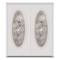 "Heirloom Master Large Oval Steel, Brilliant White, 62""x81.75"", Right"